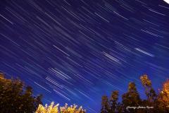 Filé d'étoiles sur Orion, le Taureau, les Hyades et Pléiades le 24/10/2015