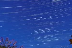Filé d'étoiles sur la constellation d'Orion
