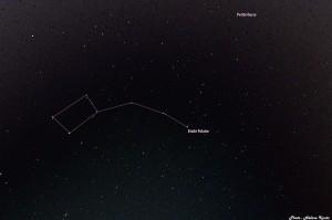 Petite ourse avec le tracé de la constellation
